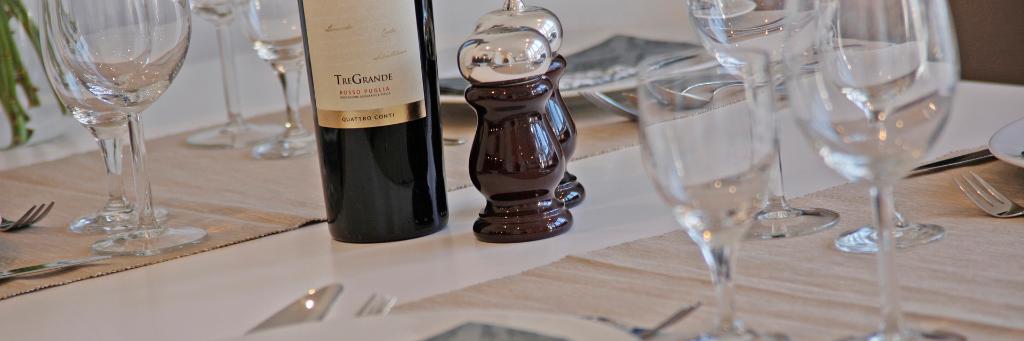 Ansicht eines gedeckten Tisches