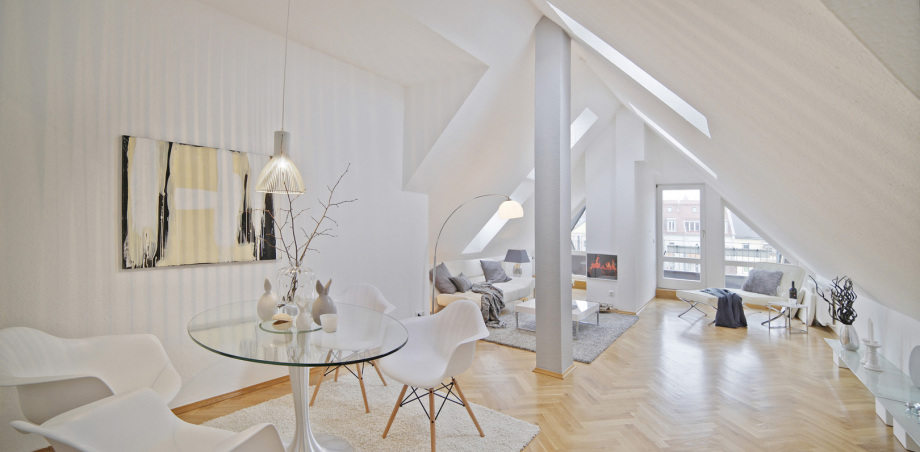"""Eine Dachterrassenwohnung in München mittels virtueller Begehung """"erlebbar gemacht"""""""